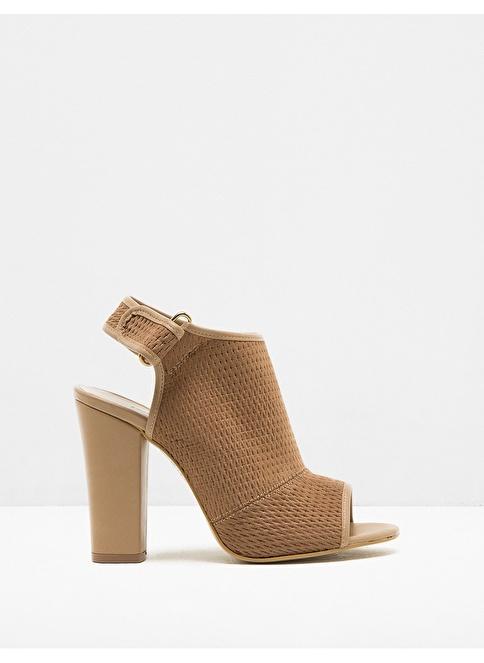 Koton Kalın Topuklu Ayakkabı Camel